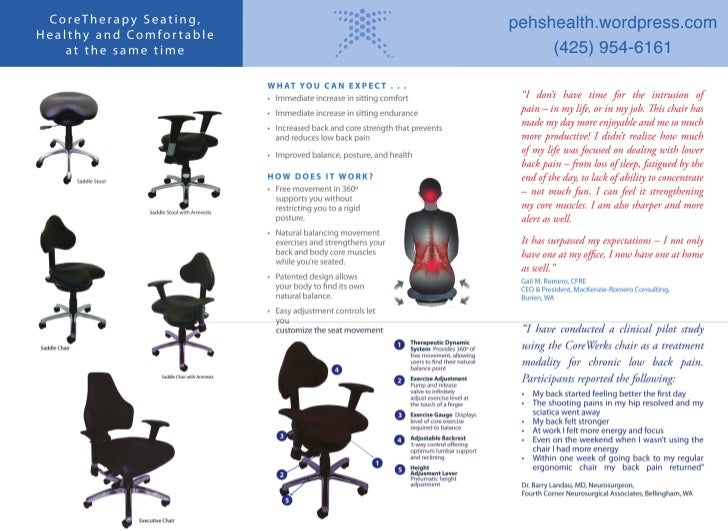 PEHS Proactive employee health services and products Corewerks brochure inside