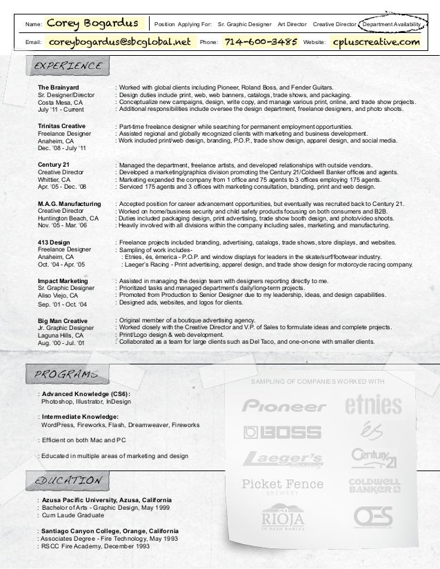 name email corey bogardus position applying for sr graphic designer art director