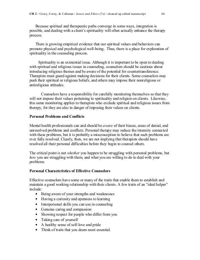 ethical decision making model corey