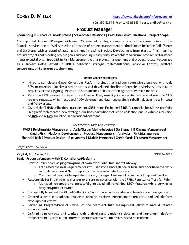 key strengths finance resume