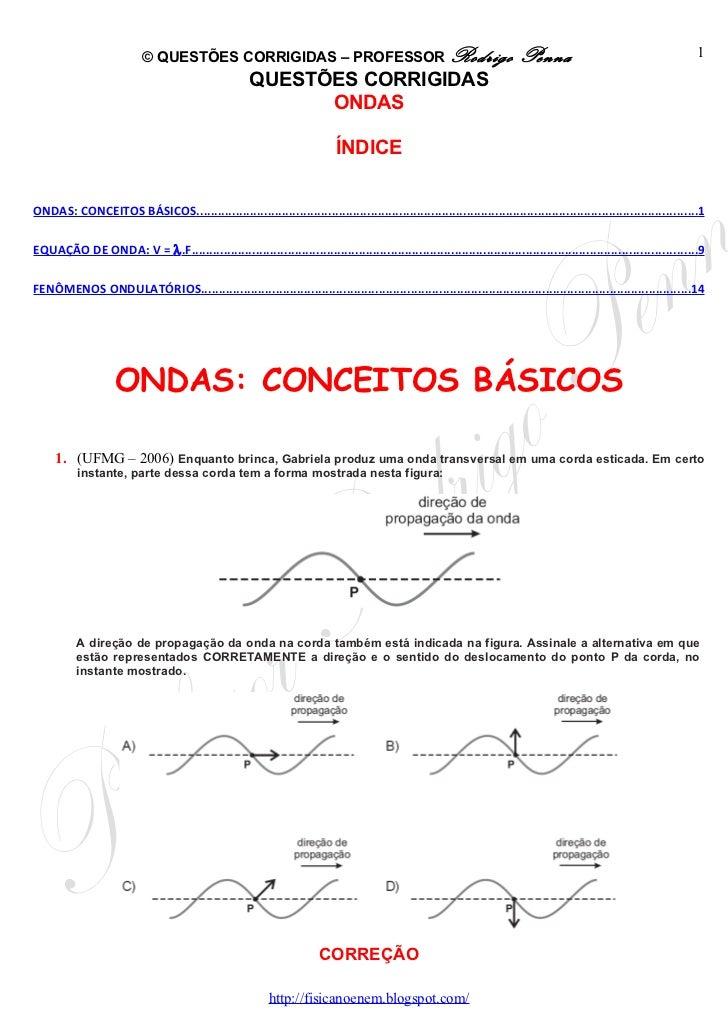 © QUESTÕES CORRIGIDAS – PROFESSOR Rodrigo                                                     Penna                       ...