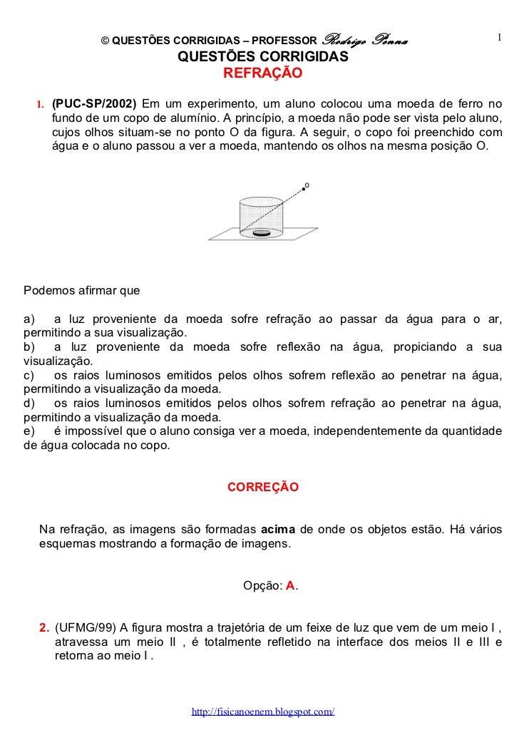 © QUESTÕES CORRIGIDAS – PROFESSOR Rodrigo           Penna              1                          QUESTÕES CORRIGIDAS     ...