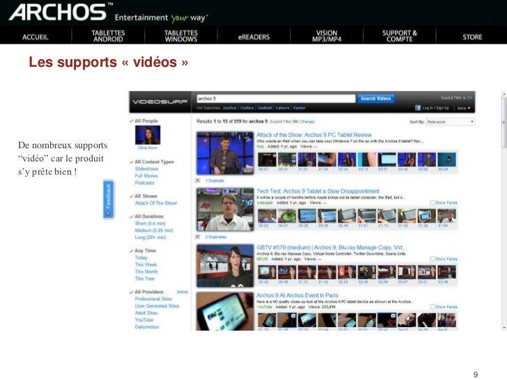ARCHOS - forums<br />On retrouve souvent www.archoslounge.net<br />Présence importante sur des forums technologiques !<br />