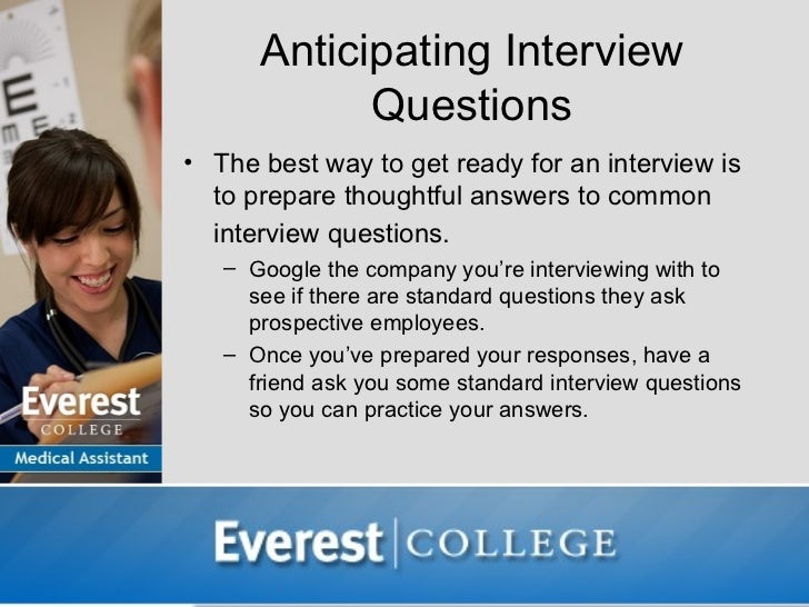 10 anticipating interview questions - Medical Assistant Interview Questions And Answers