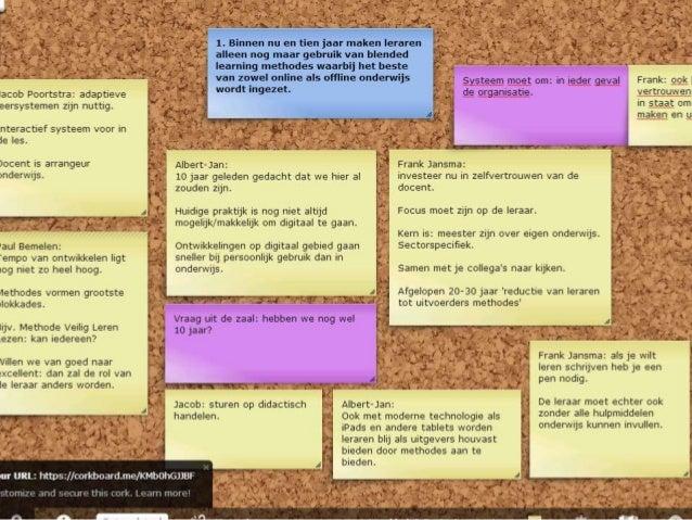 OWD2012- B1 en B5 - de veranderende rol van de leraar - Maartje de Jonge en Erik Woning