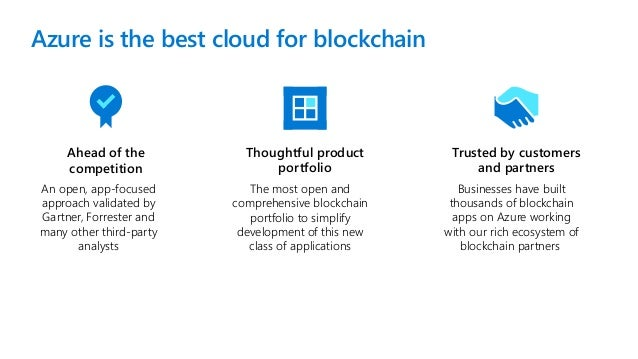 Cork .NET and Azure  - Azure Blockchain for Developers