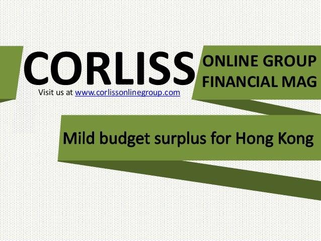 CORLISS Visit us at www.corlissonlinegroup.com  ONLINE GROUP FINANCIAL MAG