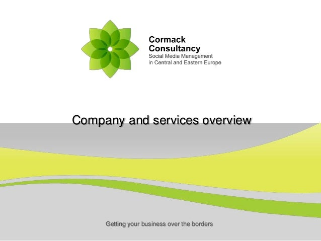 Getting your business over the bordersCompany and services overview