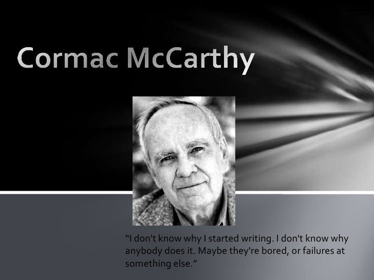 cormac mccarthy the road analysis