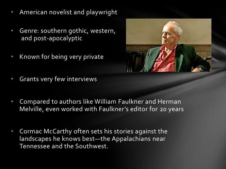 Cormac Mccarthy author presentation Slide 2