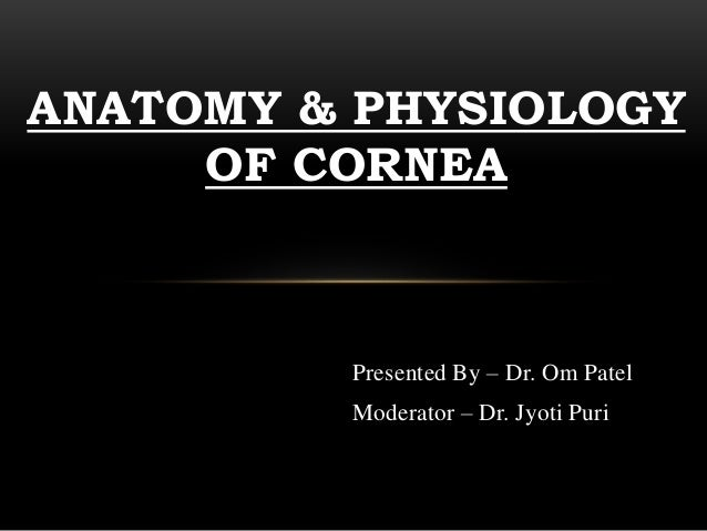 Corneal anatomy and physiology 2
