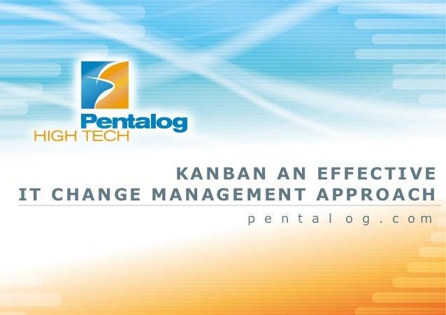 KANBAN AN EFFECTIVEIT CHANGE MANAGEMENT APPROACH                p e n t a l   o g . c om