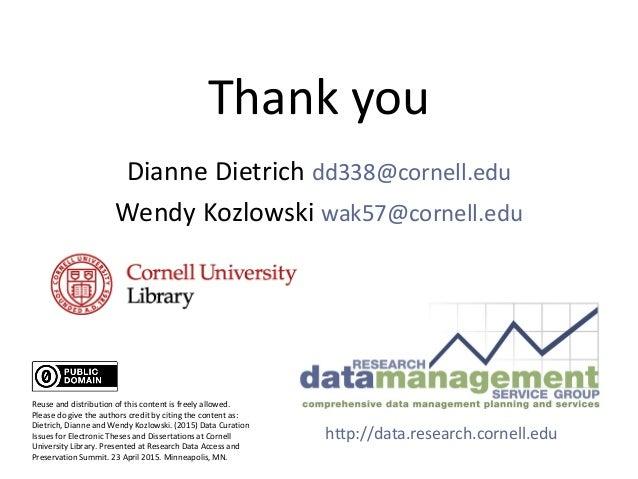 Cornell dissertation library
