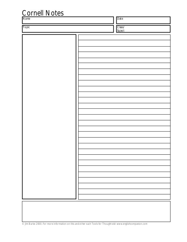 cornell notes template. Black Bedroom Furniture Sets. Home Design Ideas