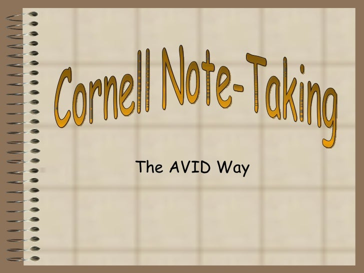 The AVID Way Cornell Note-Taking