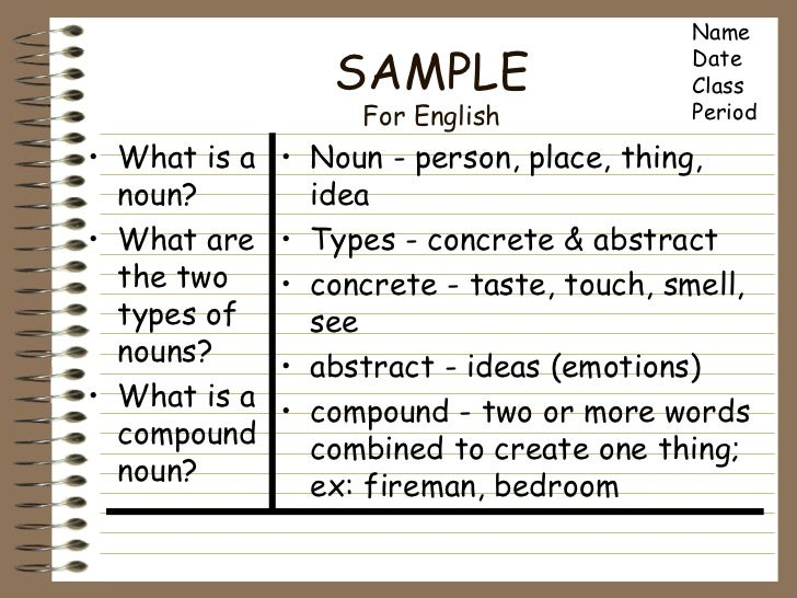 Cornell Notes Sample Cornell Note. Researched Based Instructional ...