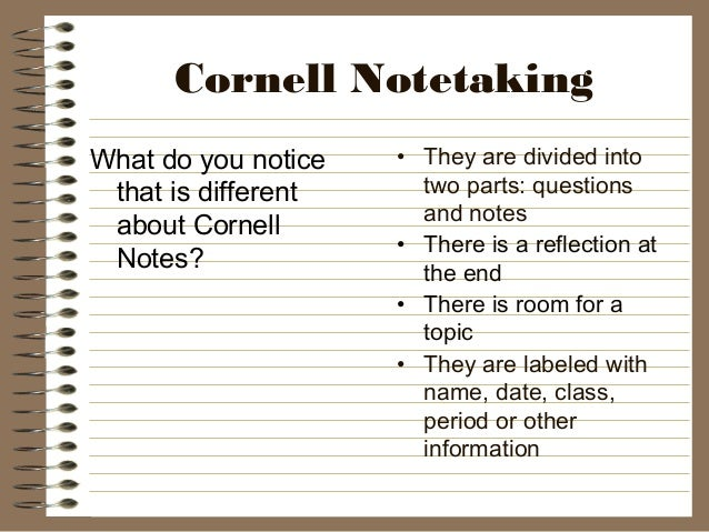 Best Of Cornell Notes Template Word: Cornell Notetaking