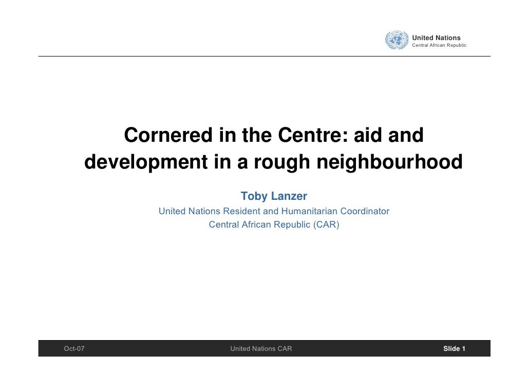 United Nations                                                                    Central African Republic             Cor...