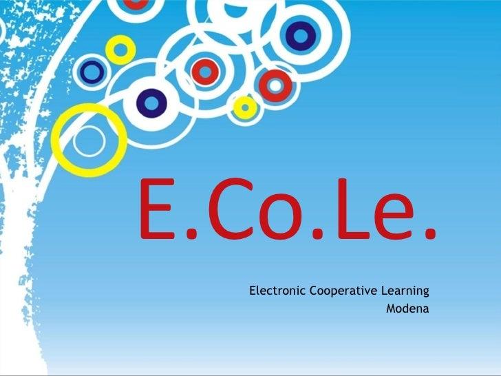 E.Co.Le. Electronic Cooperative Learning Modena