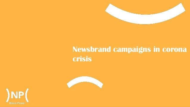 Newsbrand campaigns in corona crisis