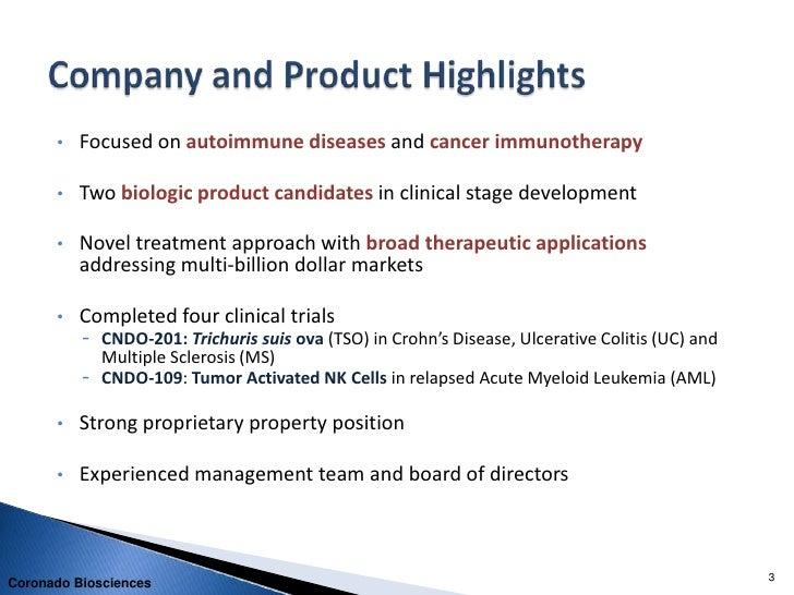 Coronado Corporate Presentation - September 2011 Rodman and Renshaw Conference Slide 3