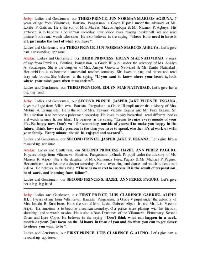 sample emcee script for town fiesta