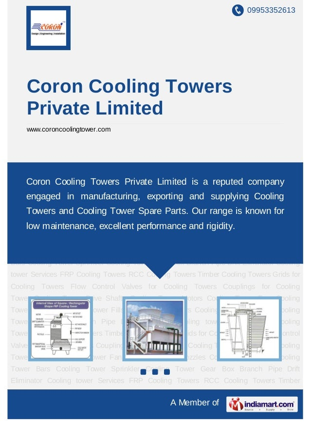 09953352613    Coron Cooling Towers    Private Limited    www.coroncoolingtower.comFRP Cooling Towers RCC Cooling Towers T...