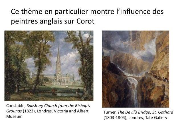 Composition orthodoxeDans Le Pont du Narni, Corot prend consciencedu parallélisme des plans, la symmétrie, et lafacture de...