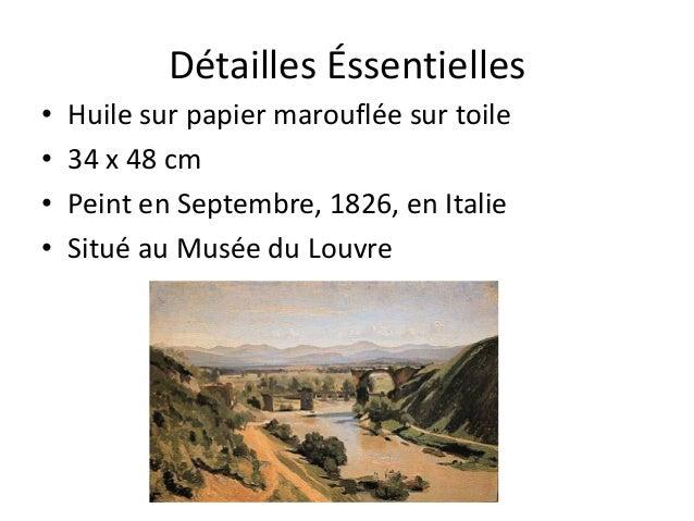 Détailles Éssentielles• Huile sur papier marouflée sur toile• 34 x 48 cm• Peint en Septembre, 1826, en Italie• Situé au Mu...
