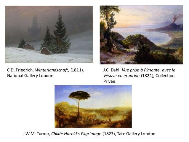 J.C. Dahl, Vue prise à Pimonte, avec leVésuve en eruption (1821), CollectionPrivéeC.D. Friedrich, Winterlandschaft, (1811)...