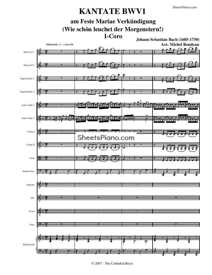 KANTATE BWV1                                             am Feste Mariae Verkündigung                                     ...