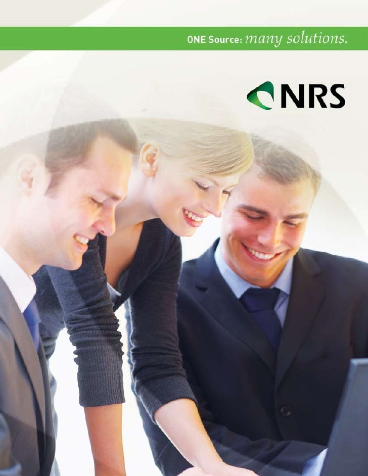 truSt                               NRS, a division of SourceMedia has been providing                               compli...