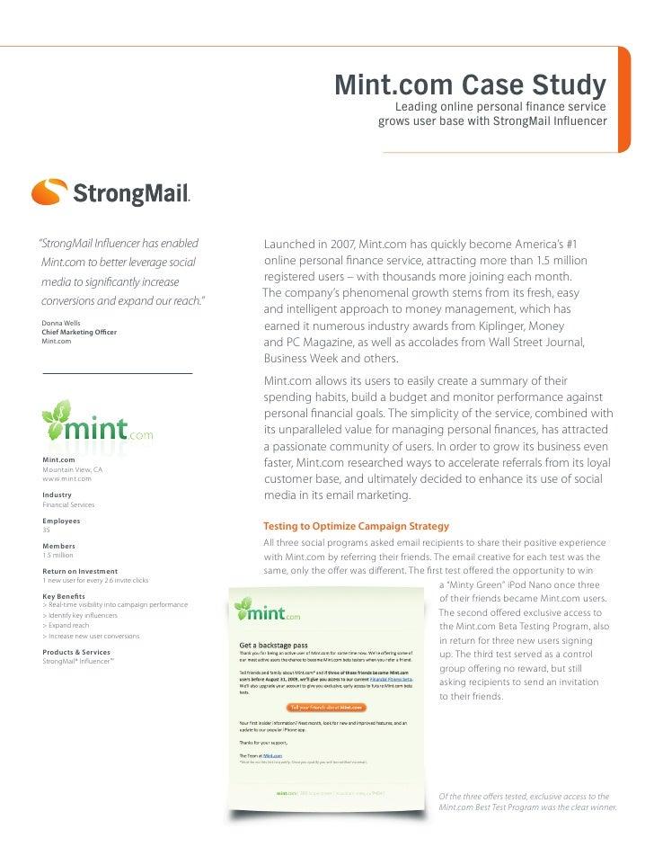 Mint.com Case Study                                                                                  Leading online person...