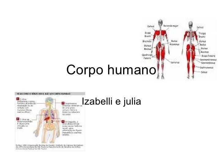 Corpo humano Izabelli e julia