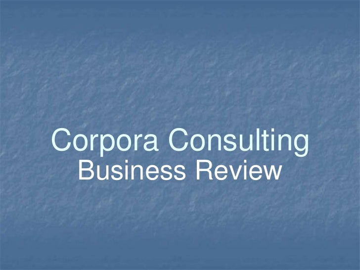 Corpora Consulting Business Review