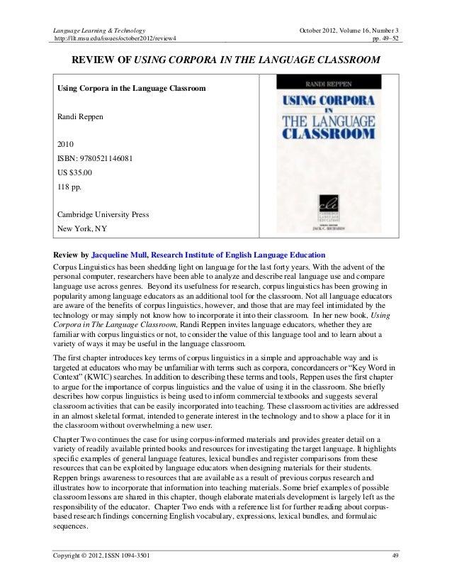Language Learning & Technology                                                October 2012, Volume 16, Number 3http://llt....