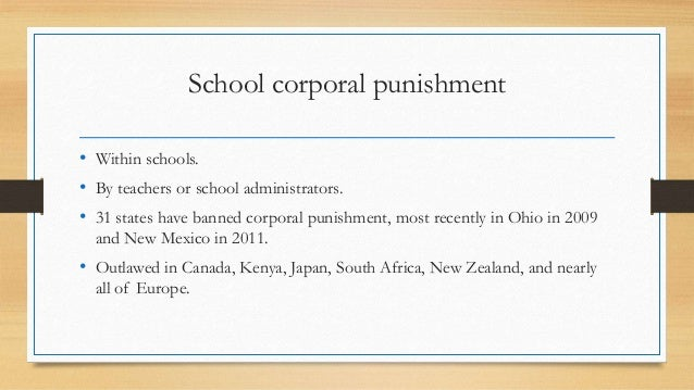 corporal punishment south african schools essay Educators' disciplinary capabilities after the banning of corporal punishment in south african schools are on the increase in south african schools and in.