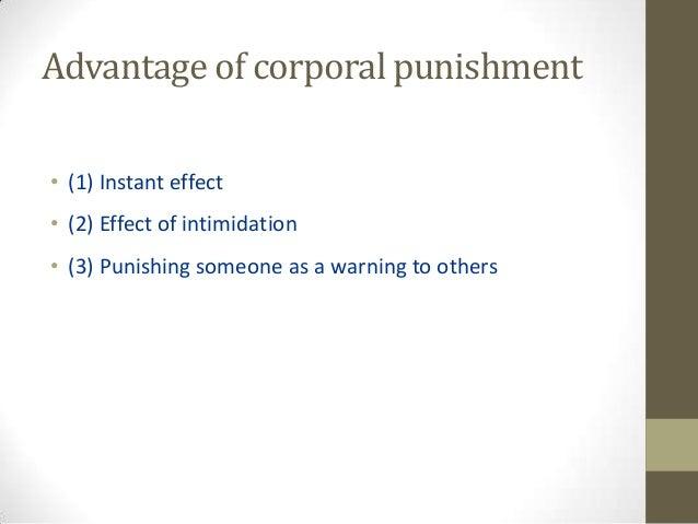 disadvantages of corporal punishment