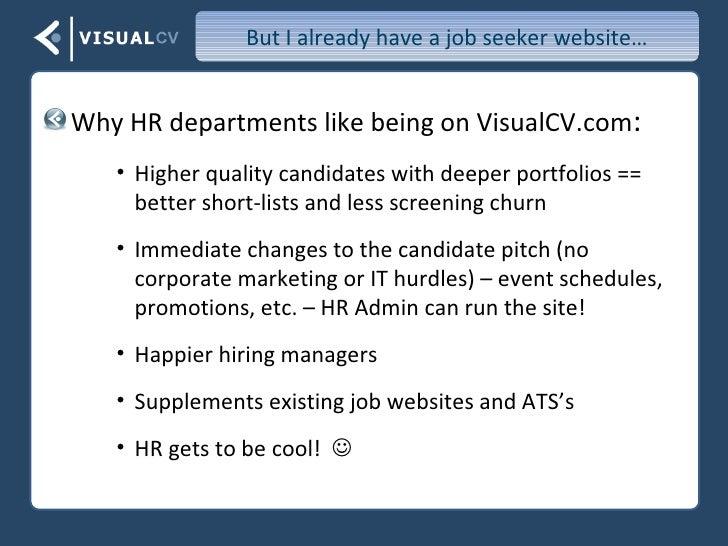 creating a resume using visualcv
