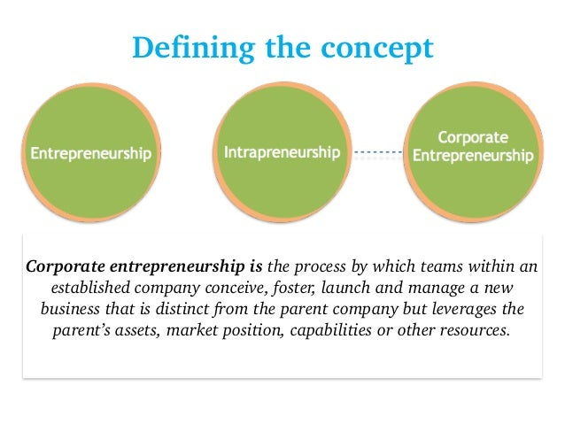 the corporate entrepreneurship Abstract enterprises with well-developed entrepreneurial capabilities are able to sustain growth and innovation, which are critical competitive advantages in the 21st century the purpose of this article was to determine whether the salient organisational factors, identified in international corporate entrepreneurship (ce).
