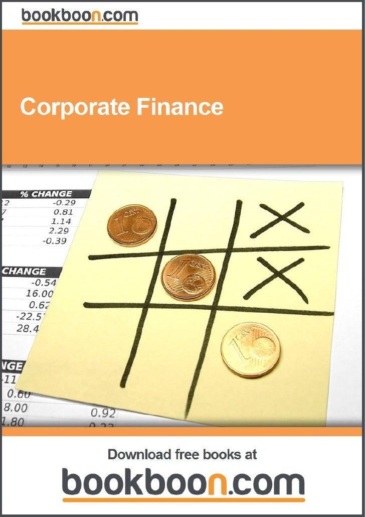 Corporate Finance                    Download free ebooks at bookboon.com