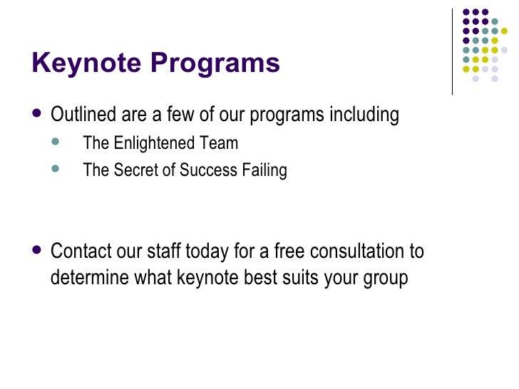 Corporate Keynotes Slide 3