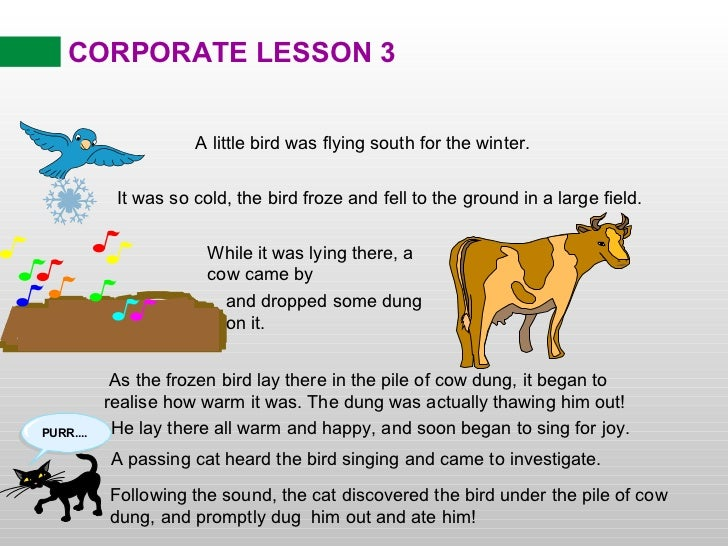 Corporate Lesson - Pictorial Moral Stories - IIM