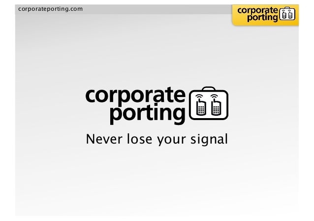corporateporting.com Never lose your signal