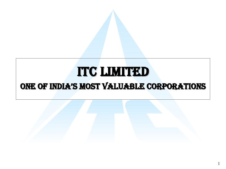 ITC Limited One of India's Most Valuable Corporations