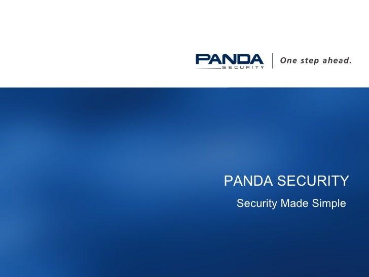 PANDA SECURITY Security Made Simple