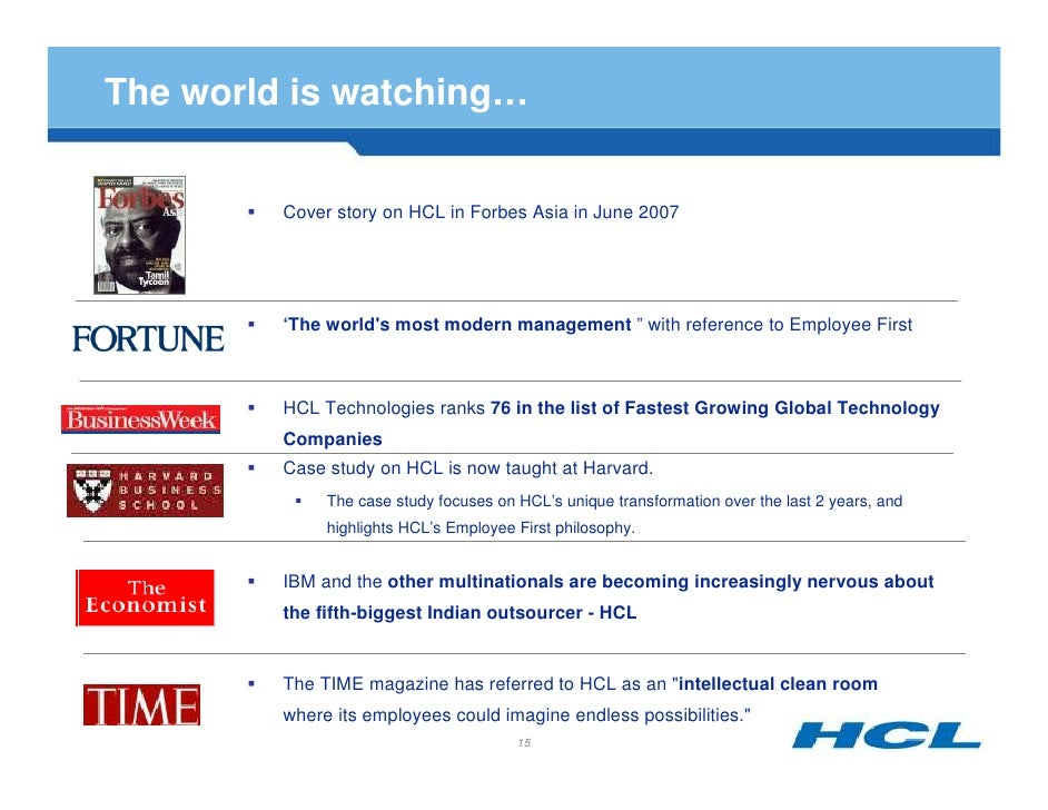 HCL Technologies: Employee First Customer Second Case Solution & Analysis