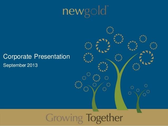 Corporate Presentation September 2013