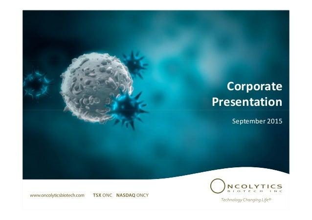Corporate Presentation September 2015
