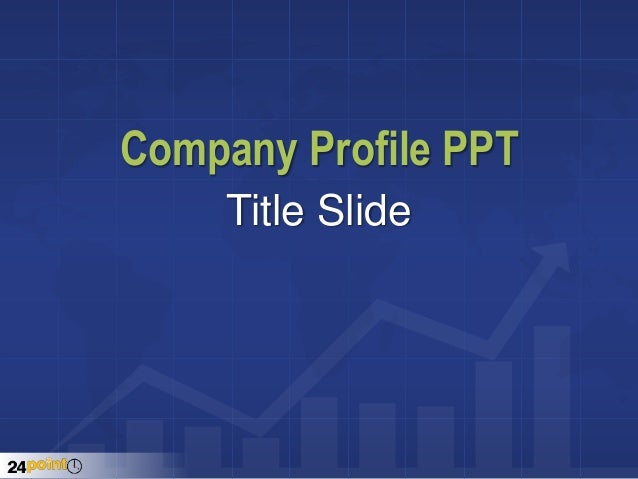 Company Profile PPT Title Slide ...  Free Samples Of Company Profiles
